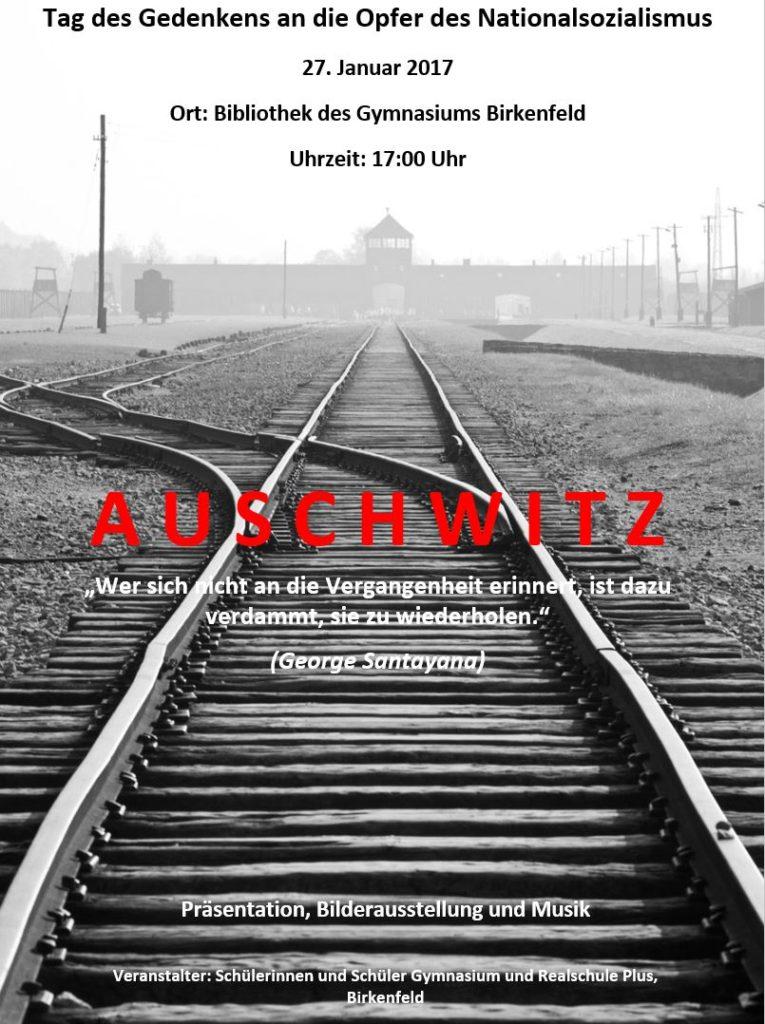 Auschwitz Plakat